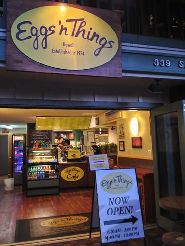 ハワイのEggs'n Things本店