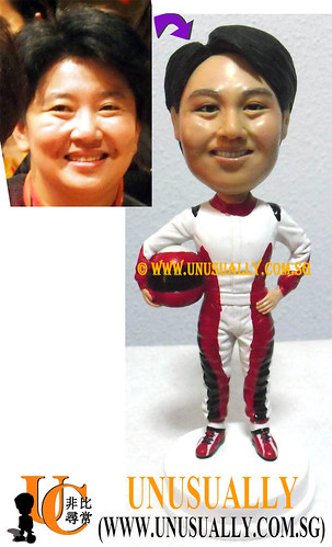 Personalized 3D Cool Racing Female Figurine - @www.unusually.com.sg