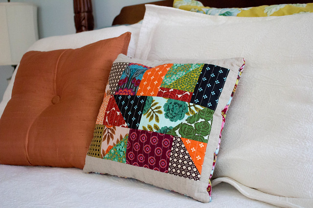 Improv Pieced Pillow