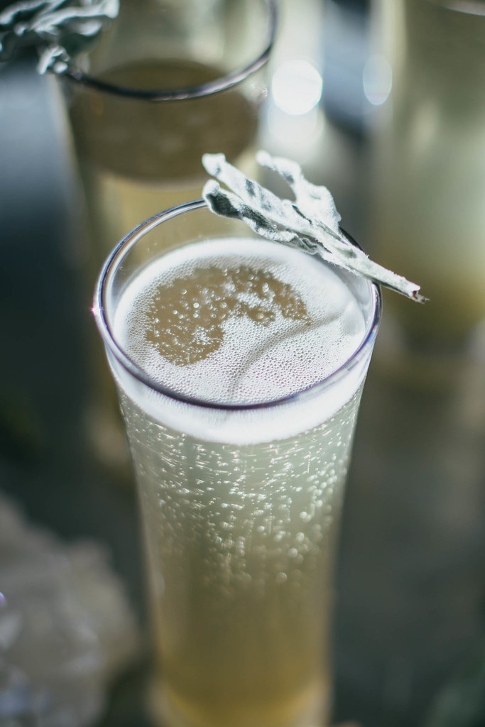 sage + ginger prosecco cocktail