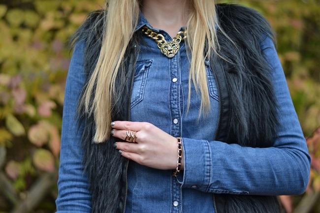 Outfit Denim und Fellweste (4)