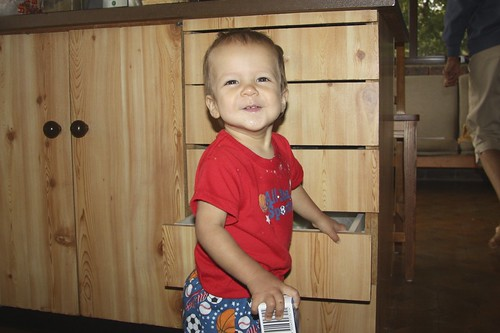 Being cheeky in the kitchen