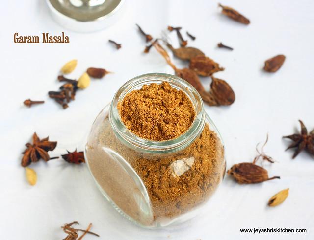 Homemade garam masala recipe garam masala powder jeyashri 39 s kitchen - Garam masala recette ...