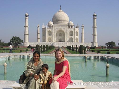 Mariellen, family, Taj Mahal, India top bloggers talk sustainable travel
