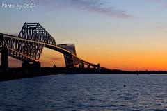 東京ゲートブリッジの夕焼け