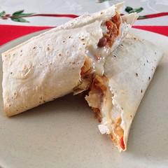 baked goods(0.0), ciabatta(0.0), produce(0.0), quesadilla(0.0), dessert(0.0), meal(1.0), breakfast(1.0), taquito(1.0), flatbread(1.0), tortilla(1.0), food(1.0), piadina(1.0), dish(1.0), cuisine(1.0), burrito(1.0),
