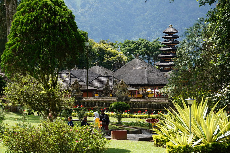 Beautiful surroundings of  Pura Ulun Danu Bratan water temple