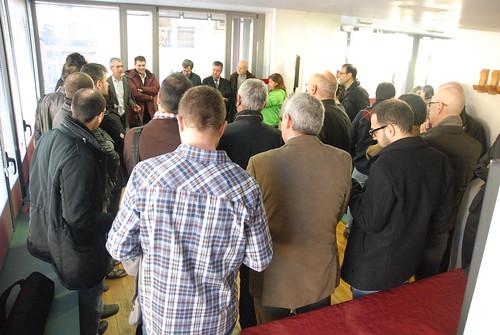 Santi Casas, impulsor de Coworking Tona, ha presentat el nou centre als assistents.