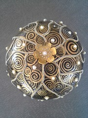 art, pattern, metal, brooch,