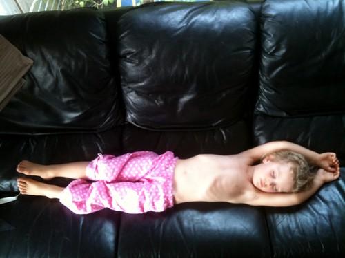Dadda Day: Flat out napping.
