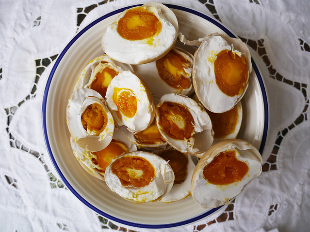 Salted duck eggs - 1 month update and ready to eat #13