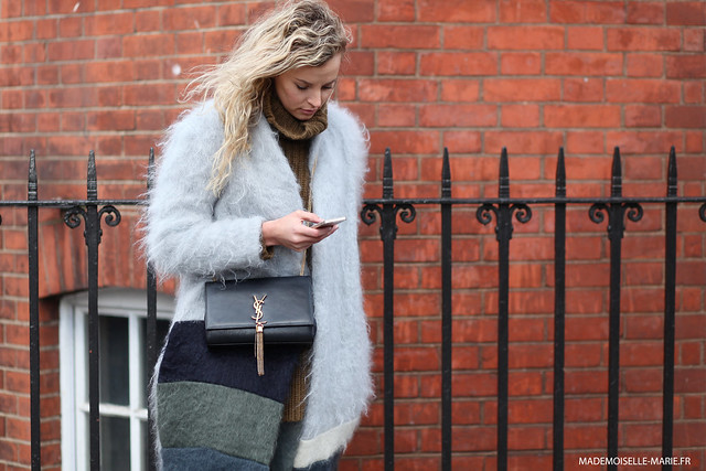 Anouk Yve at London Fashion week, candid street style