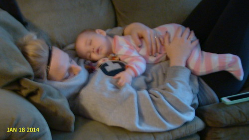 Wild winter outside but the Grand kids are safe warm @ the grandparents