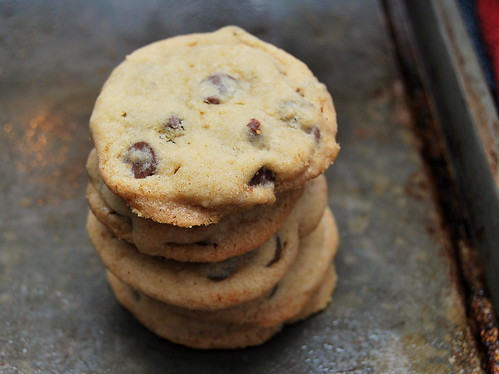 Soft Chocolate Chip Cookies - stacked-001