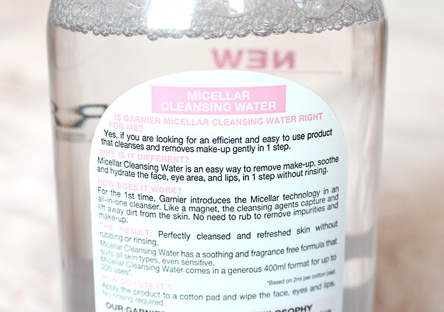 Garnier cleansing water review 2