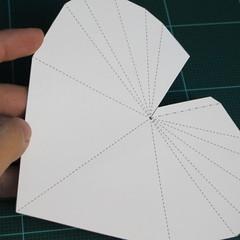 วิธีทำโมเดลกระดาษเป็นกล่องของขวัญรูปหัวใจ (Heart Box Papercraft Model) 012