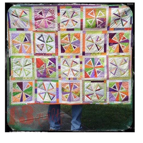 #dogoogstitches #cheercircle September '13 #freewheeling quilt being donated to the charleston chapter of #projectlinus . block design by @tachabr