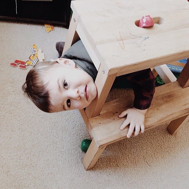 """Help . . . help!"" #instaluther #toddler #imstuck"