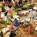 Ceramic Mushroom Garden by Deno L