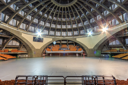 One of a kind interior... The Centennial Hall (Hala Stulecia),  Wrocław Poland (UNESCO world heritage site)