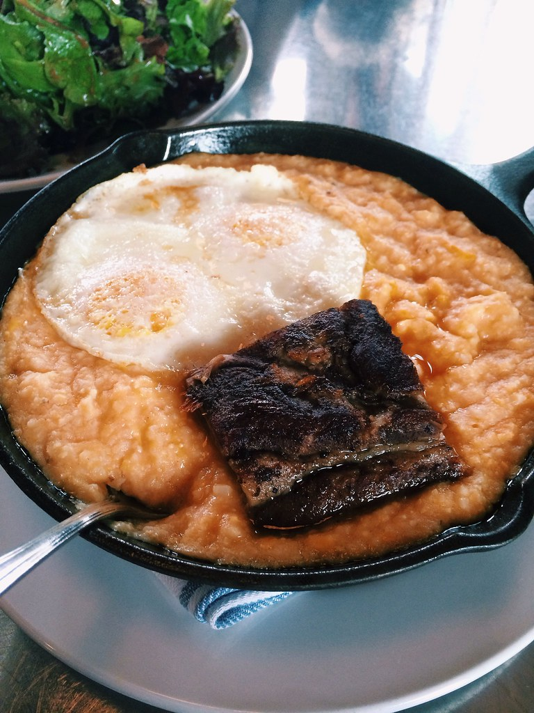 grits and pork belly
