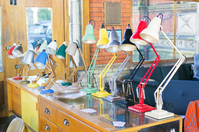 Colourful lamps at Midcentury Modern Fair Dulwich 2014