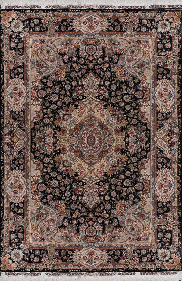 Salari Tabriz 70 Raj 7x10 Silk Persian Area Rug