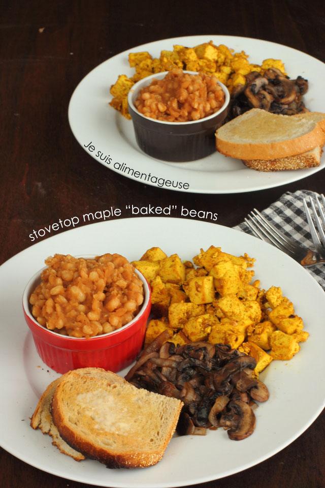 "Stovetop Maple ""Baked"" Beans | Je suis alimentageuse #breakfast #vegan"