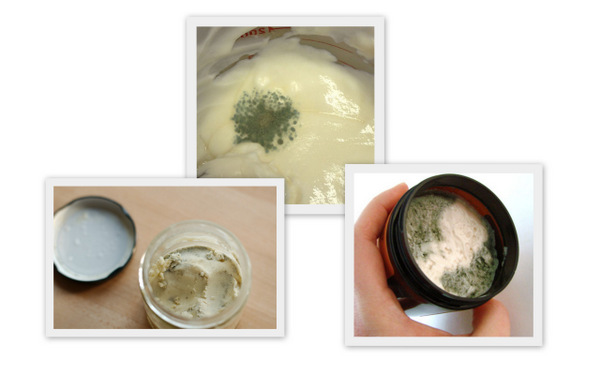 Moldy lotions & creams