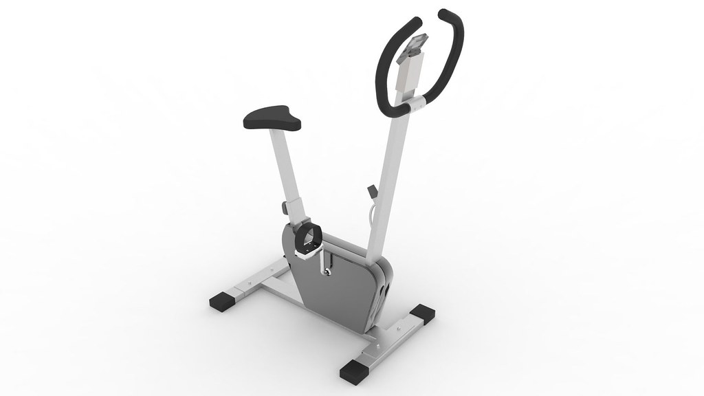Exercise Bike Textured 3d Model