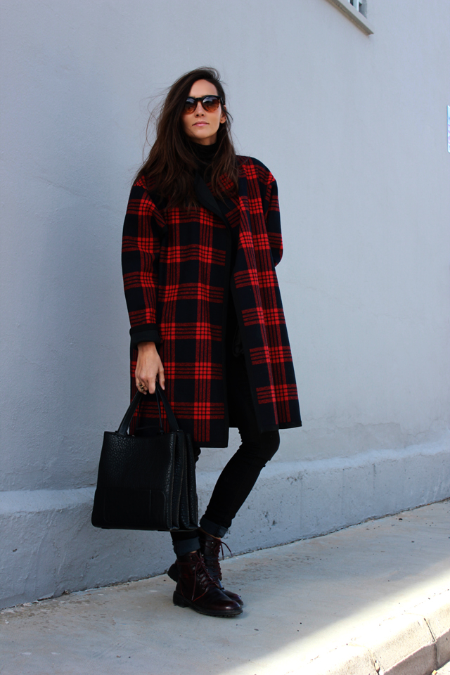plaid coat coohuco 4