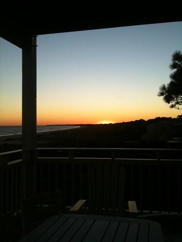 sunset vacation beach florida porch lostcoast