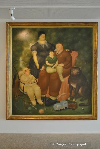 27. Fernando Botero. Family Scene, 1969