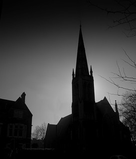 St Andrews Church, Cardiff [In silhouette]