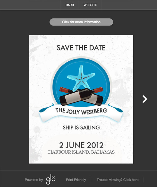 Glo Wedding Websites Save The Date Examples