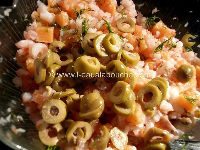 Tartare de Saumon et Crevettes aux Olives © Ana Luthi Tous droits réservés