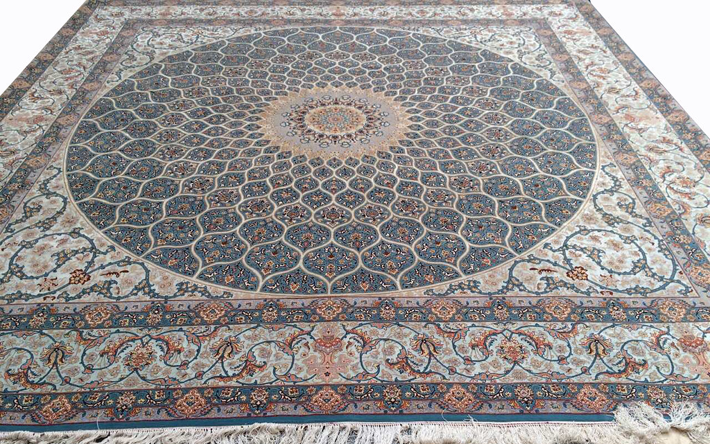 Isfahan 365x365 cm Tak Kheft Modarres Persian Area Rug Square (3)
