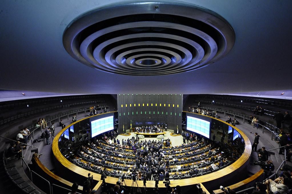Centrão se articula para barrar MP que devolve o Coaf à área econômica, Plenário do Congresso - abertura dos trabalhos legislativos