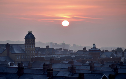 uk morning houses roof winter sky urban sun inspiration streets cold art clock wales composition contrast sunrise landscape town nikon warm experimental mood glow time creative cardiff atmosphere barry mysterious concept chimneys valeofglamorgan barrydocks d5100