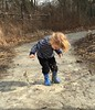Mud puddle fun at the Cincinnati Nature Center.