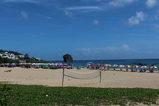 Image of  船帆石沙灘. ocean sea sky beach clouds nationalpark taiwan 台灣 雲 墾丁 海 天空 屏東 2016 pingtung 國家公園 晴天 沙灘 恆春 墾丁國家公園