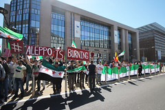 Aleppo is burning... place Schuman 8