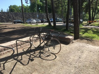 Image of  Hietarannan uimaranta  near  Helsinki. hietaniemi beach bikeracks cycling bike