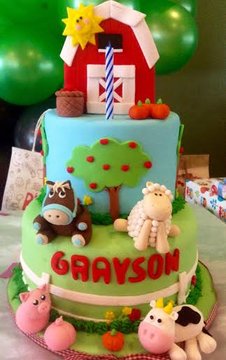 Barnyard Cake by Tootie Mariano & Margie Mariano of Tootie Cupcakes