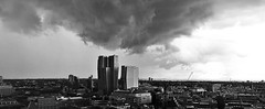 The Threat over Frankfurt Am Main Threatening Sky Rainy Days Bw Blackandwhite Skyline