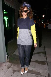 Rihanna White Pumps Celebrity Style Women's Fashion