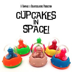 Cupcake Luchas in Space! New rubber mini figure collaboration from @jmrampage x @trutek coming soon...