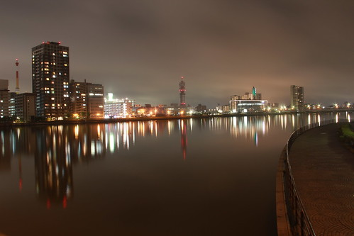 Shinano River, Niigata by shinyai