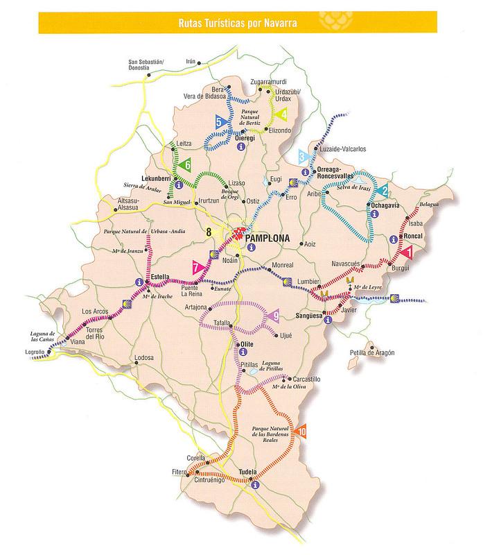 navarra espanha mapa Mapas das Regiões e Comunidades Autónomas de Espanha navarra espanha mapa