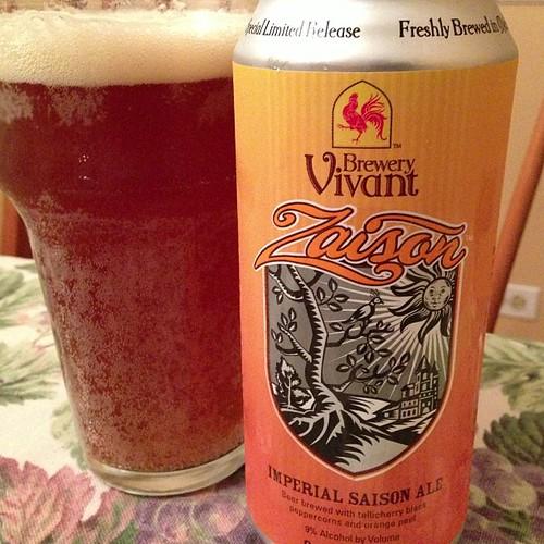 Brewery Vivant Zaison Imperial Saison